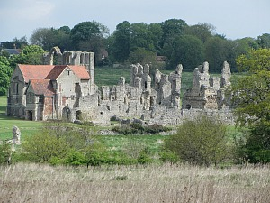 Priory ruins in the village of Castle Acre