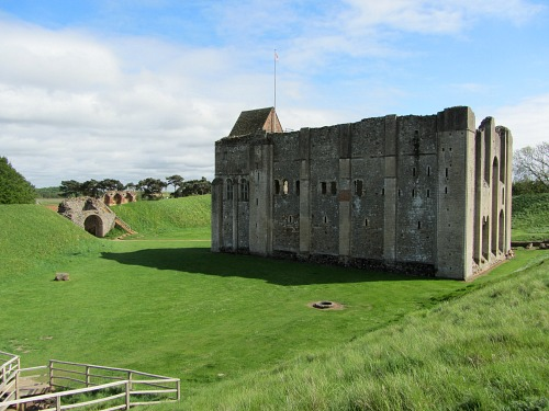 The ruins of Castle Rising Castle