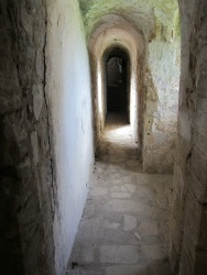 Narrow passages in Castle Rising Castle