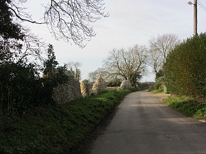 The beginning of the Castle Acre Circular Walk