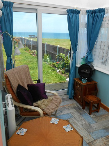Fabulous sea views from the conservatory at Eve in Scratby