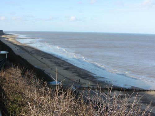 Cromer beach towards East Runton
