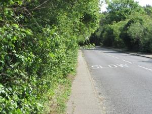 The B1159 towards Overstrand