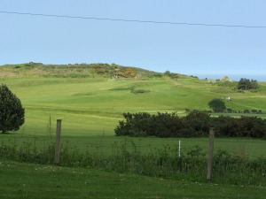 Cromer Golf Club view from the road back to Overstrand
