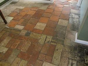Original floor tiles in Cromer Museum