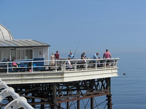 Fishing off Cromer Pier