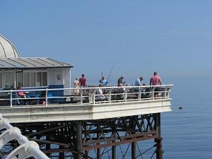 Fishing off Cromer Pier