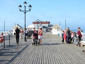 Strolling along Cromer Pier