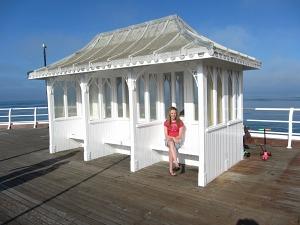 Having a rest on Cromer Pier