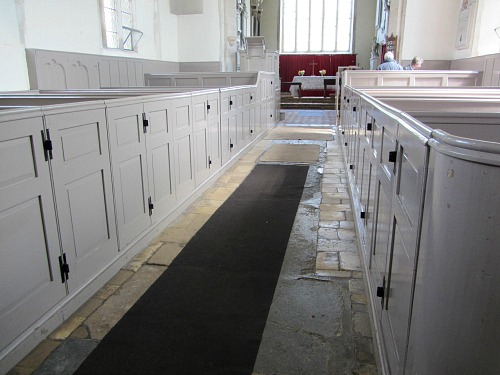 The box pews in Felbrigg Church