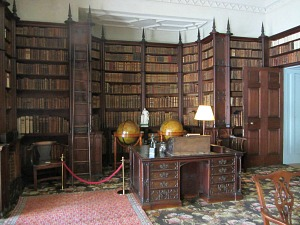 Gothic style library at Felbrigg Hall