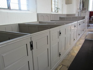 The box pews at Felbrigg Hall Church