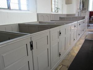The box pews at Felbrigg Hall Church