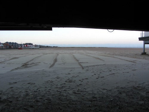 Great Yarmouth North Beach from under the Pier