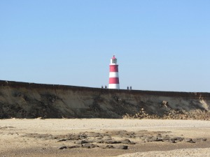 Happisburgh lighthouse from the beach