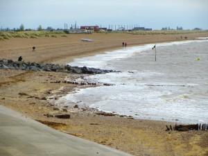 Heacham beach from the promenade