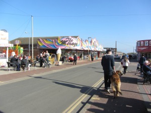 Hemsby Beach Road with Amusements