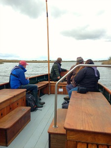 Going out into the open waterway of Hickling Broad