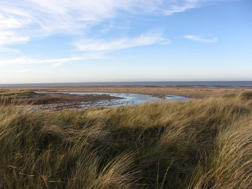 The coastal scenery on the Norfolk Coast Path