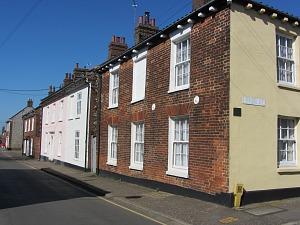 Georgian frontage in Holt Norfolk