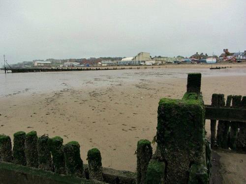 Hunstanton Beach on a cloudy day!