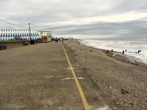 High tide at Hunstanton Beach