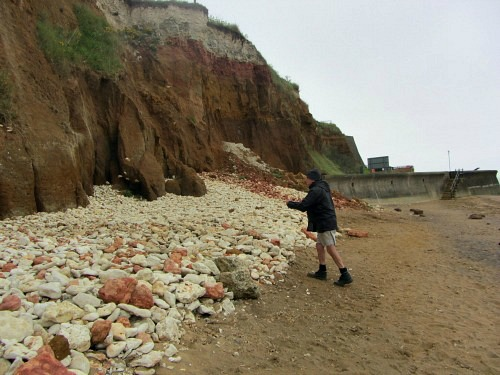 Michael Kennedy on Hunstanton beach