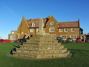 The cross at Hunstanton which Henry Le Strange moved to create New Hunstanton