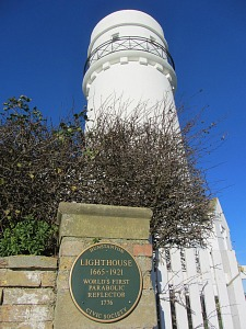 The privately owned lighthouse at Hunstanton UK