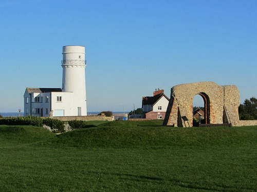 The lighthouse and St Edmunds Chapel in Hunstanton