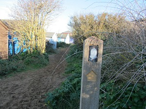 The start of the Norfolk Coast Path