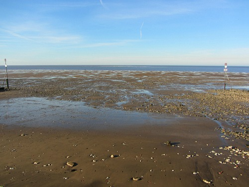 The beach where Hunstanton Pier used to stand