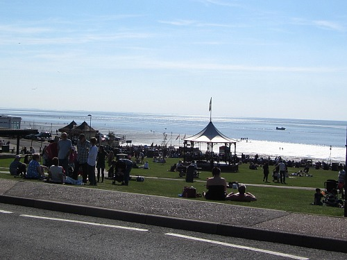 Hunstanton green in the summer
