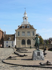 The Customs House on the waterfront at Kings Lynn, Norfolk