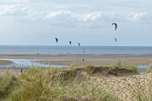 Kite surfing on Old Hunstanton beach