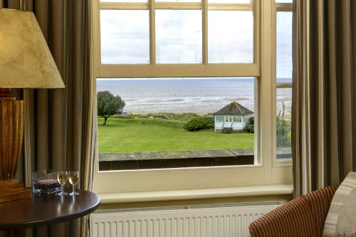 A sea view room at Le Strange Arms