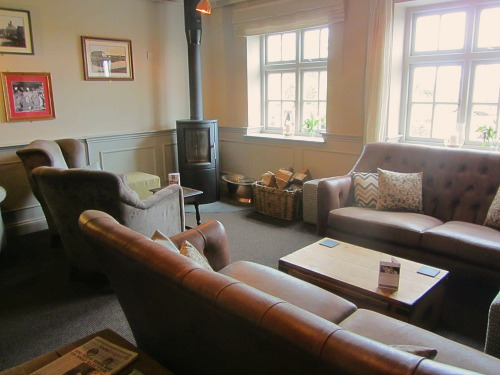 The relaxed lounge area in the Lifeboat Inn