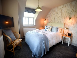 An example of a bedroom at The Lifeboat Inn