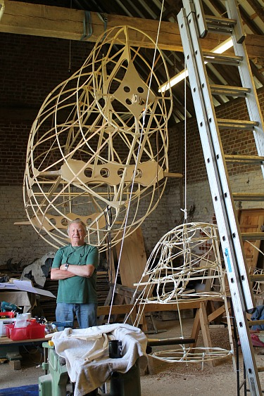 The life size model coming together, designed by Jeremy Moore