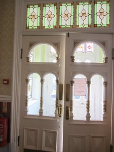 The Victorian entrance to the lobby and reception area