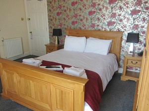 One of the refurbished bedrooms at the Manor Hotel, Mundesley