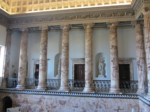Marble Room at Holkham Hall