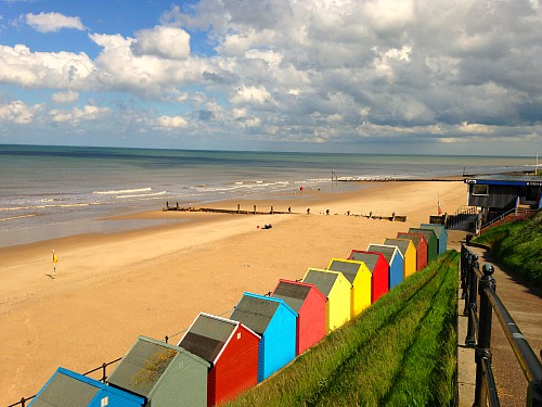 The fabulous Mundesley beach