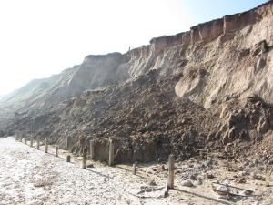 Mundesley beach cliffs