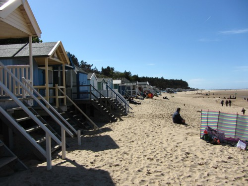 Wells Beach huts - lots to sniff at!