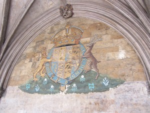Norwich Cathedral cloister crests