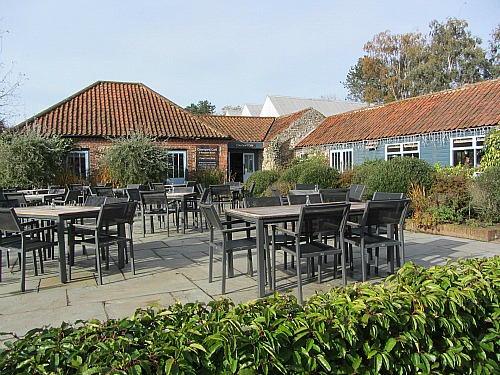 The courtyard cafe at Pensthorpe