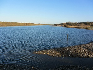 One of the lagoons at RSPB Snettisham