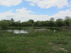 A Pingo pond along the trail
