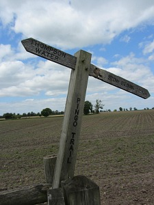 The Pingo Trail wonky waymarker!
